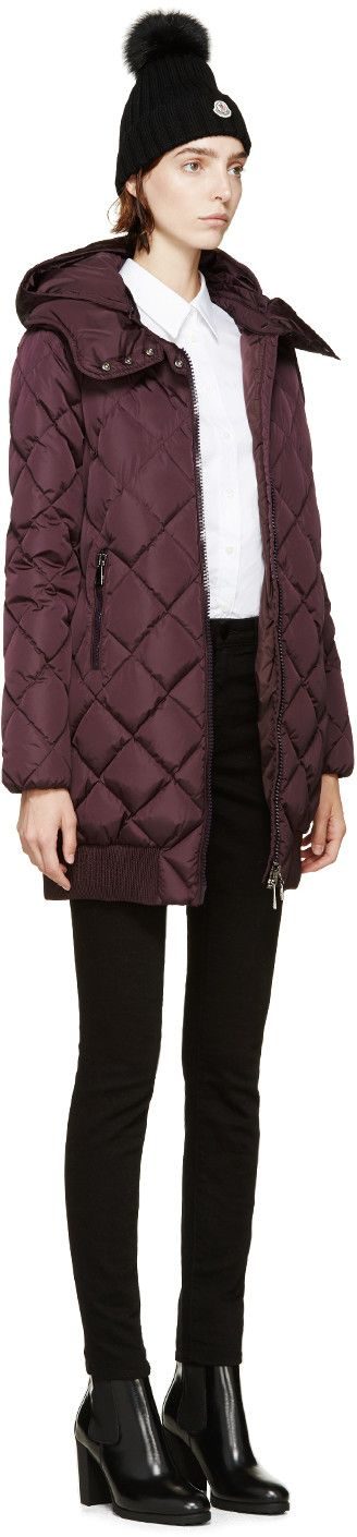Moncler Plum Crozant Down Jacket