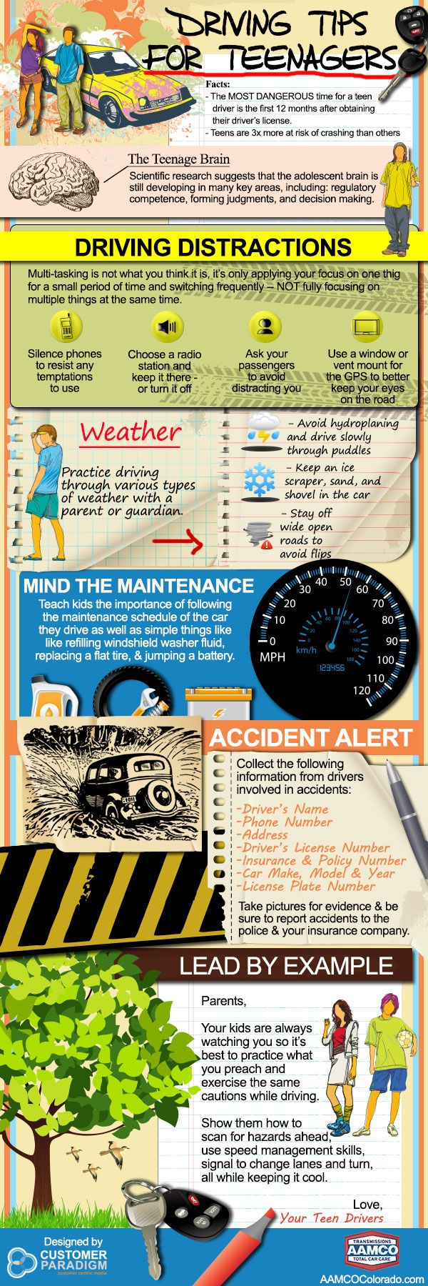 Driving Tips for Teenagers (and adults!) #teens #driving