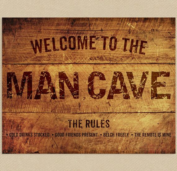 What a great gift!! Man Cave Sign Wall Art Printable 11x14 Add a by seedtosprout