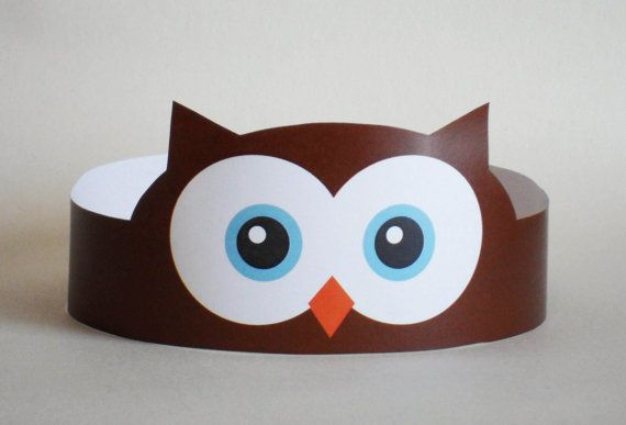 Owl Paper Crown - Printable