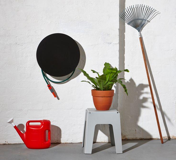 Black Dial Hose Hanger | Powder Coat Steel | Gardenware | Hose Reel Outdoor Accessories