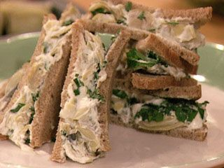 Baby Artichoke Tea Sandwiches - These guys are perfect for tea parties or showers!