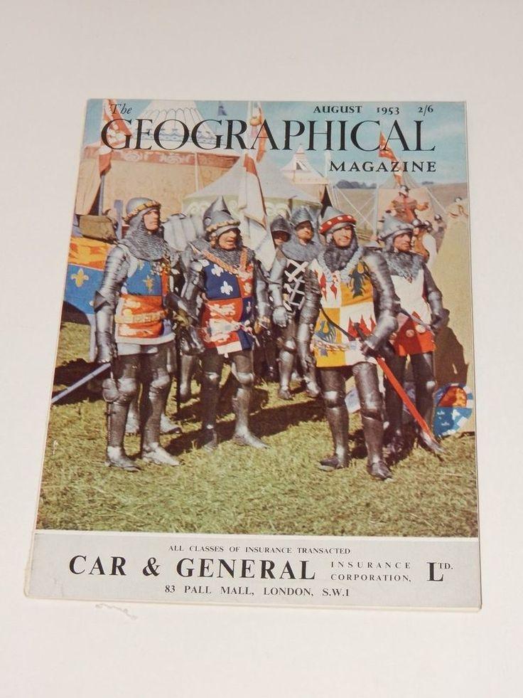The Geographical Magazine Volume XXVI, No. 4 August 1953  **RARE**