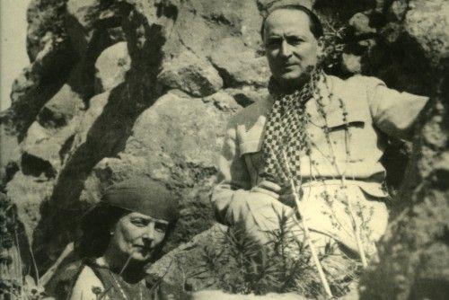 Ο Άγγελος Σικελιανός με την πρώτη σύζυγό του Εύα Πάλμερ Φωτο: Μουσείο Μπενάκη