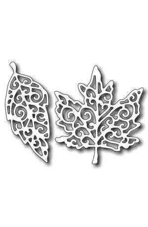 Frantic Stamper - Fancy Leaves