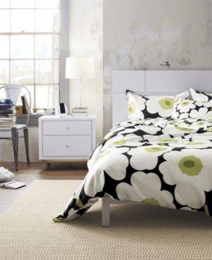 Marimekko Unikko Black Bed Linens