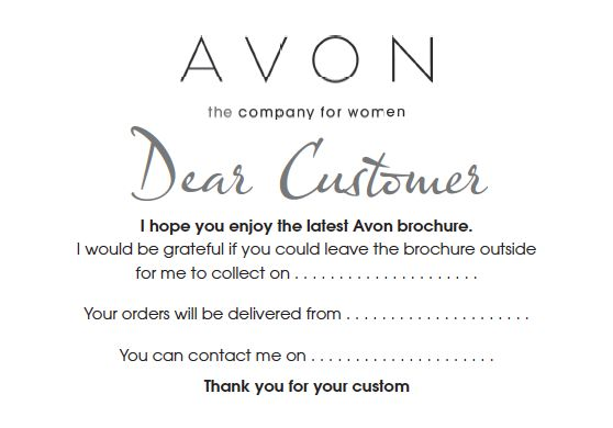 """FREE Avon TEMPLATES .. brochure drop note flyer postcard"" Thank you to uploader, I'll take from this"