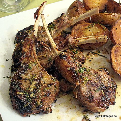 Greek Style Lamb Chops.. The best cut of lamb, with oregano and lemon.