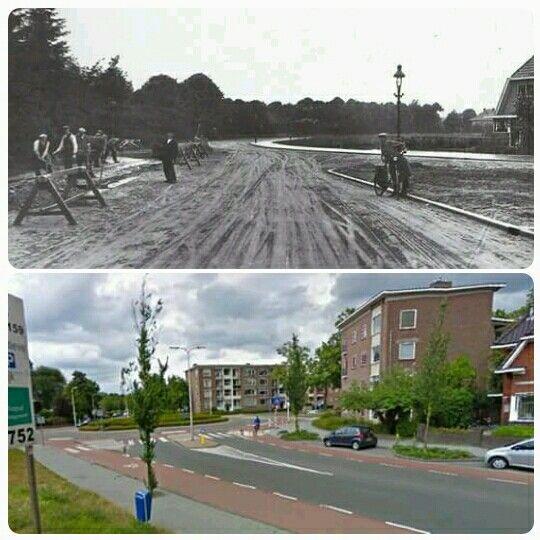 Deventer - Diepenveenseweg rotonde Ceintuurbaan. Toen en nu