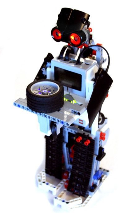 A simple tea serving robot, made with LEGO MINDSTORMS EV3 Edu kit.