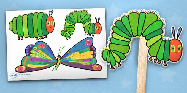 The Very Hungry Caterpillar Stick Puppets