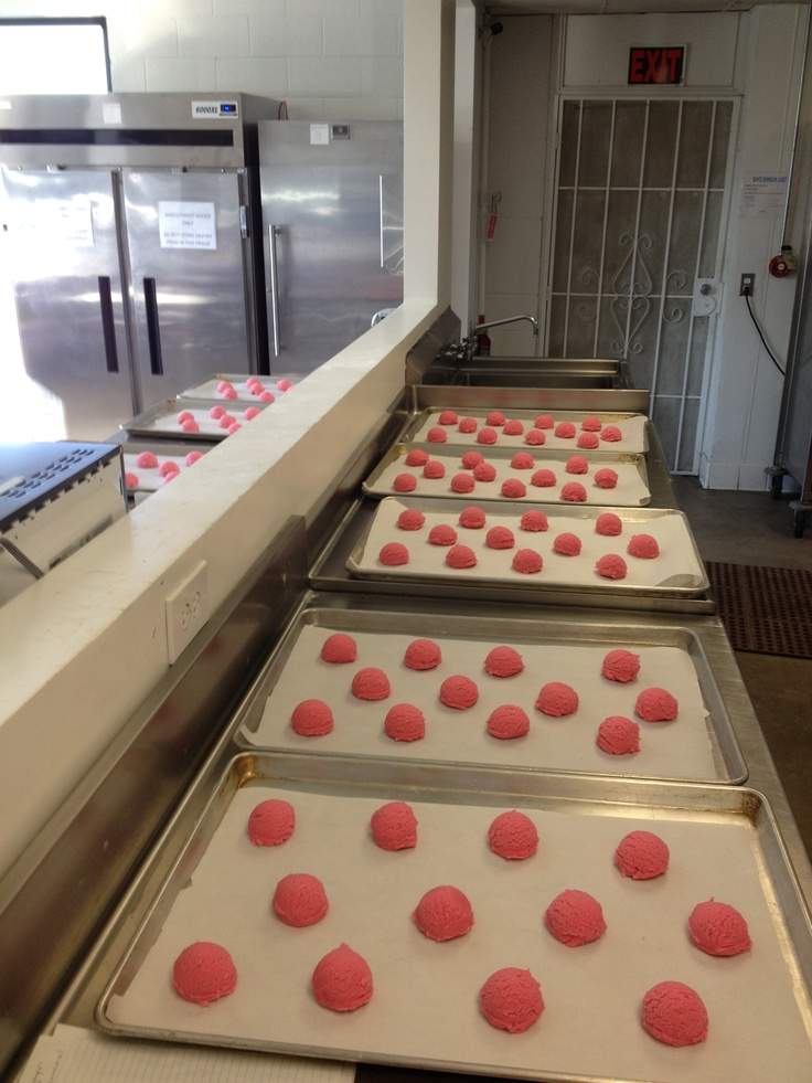 LOTS of pink sugar cookies for Valentine's Day!