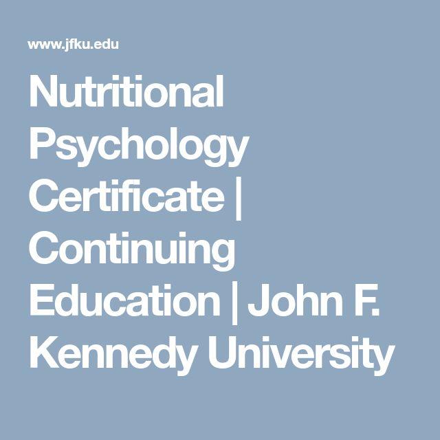 Nutritional Psychology Certificate | Continuing Education | John F. Kennedy University