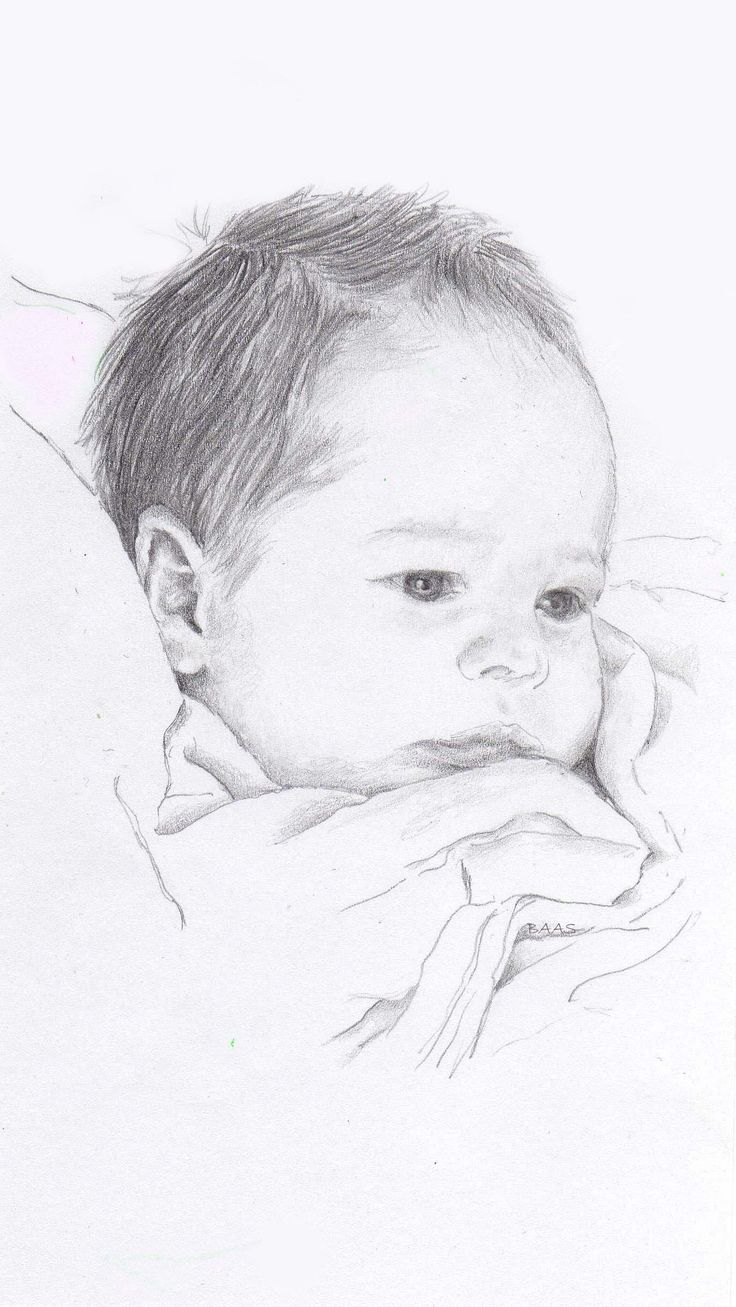 Pencil drawing on paper - Baby