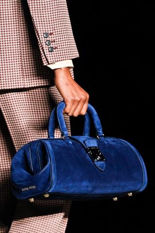 Miu Miu, the color kills me. Sapphire blue. Gorgeous.