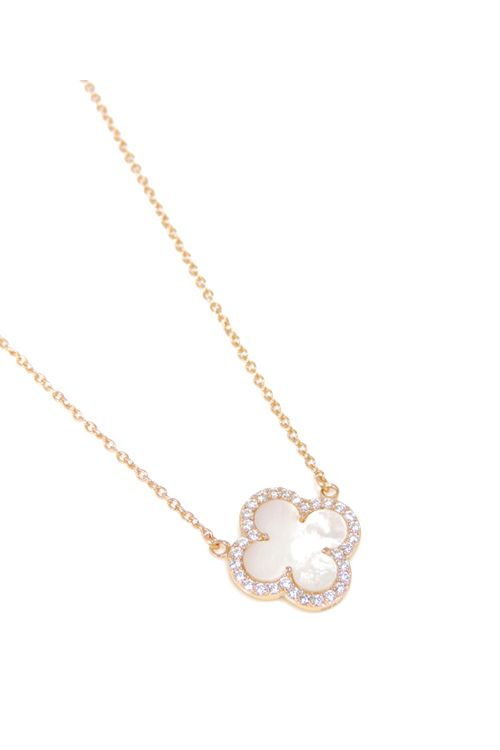 Rose Gold over Sterling Silver Lucky Necklace on Emma Stine Limited