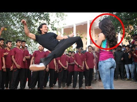 Stunt Gone Wrong: Tiger Shroff Almost Hits Shraddha Kapoor During Stunts On Sets Of Baaghi - YouTube