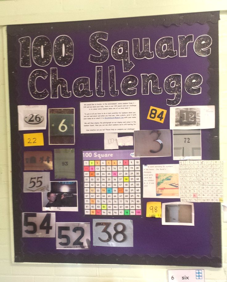 ''100 Square Challenge!'' In Reception the children have been working hard to find numerals in the environment and send them into school! We are trying to fill all of the numbers in the 100 square! Not bad so far... #EYFS #MathematicalDevelopment #Teaching #Reception 'NumbersInTheEnvironment