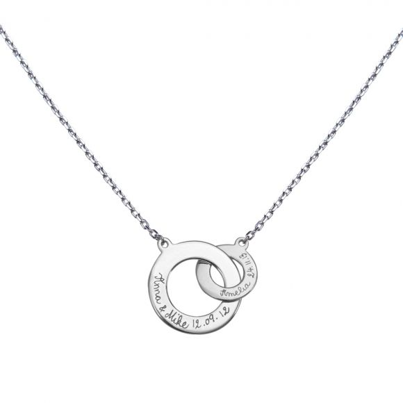 Mother's personalised intertwined necklace