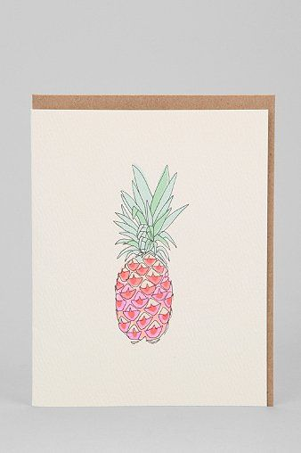 Hartland Brooklyn Pineapple Card - Urban Outfitters
