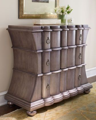 """""""Pewter"""" Chest at Horchow. Definitely not your everyday chest of drawers!"""
