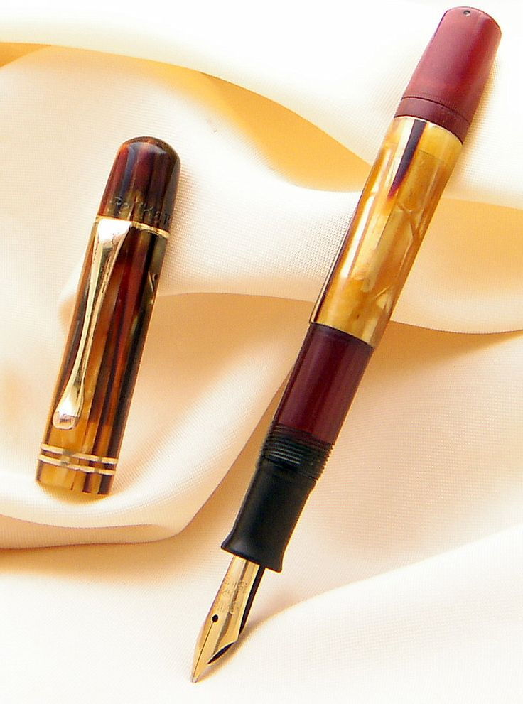 Pelikan 101N Dark Tortoise - Pelikan 101N Mother of Pearl Vintage Fountain Pen from end of 1930s !