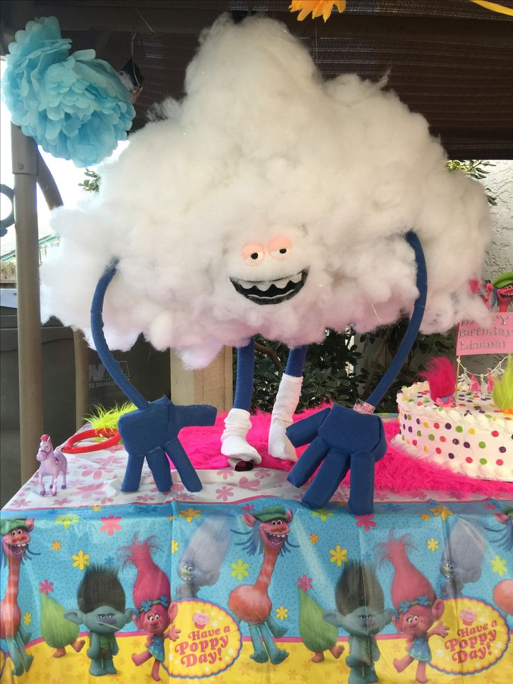 Cloud party prop we made for a Trolls themed birthday party.
