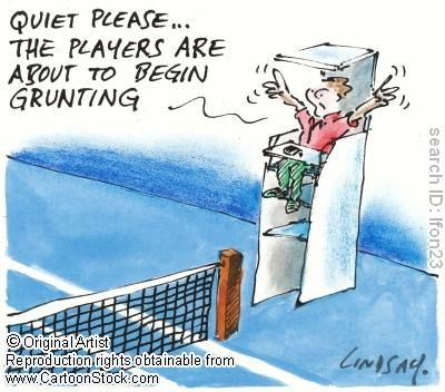 Are those ladylike grunts a problem for spectators?