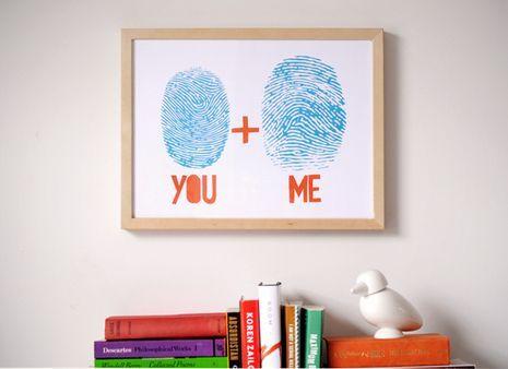 How To: Make Custom Art from Your Own Fingerprints    created at: 02/02/2011: Wall Art, Fingerprint Art, Thumbprint, Thumb Prints, Gifts Ideas, Valentines, Fingerprints Art, Diy, Crafts