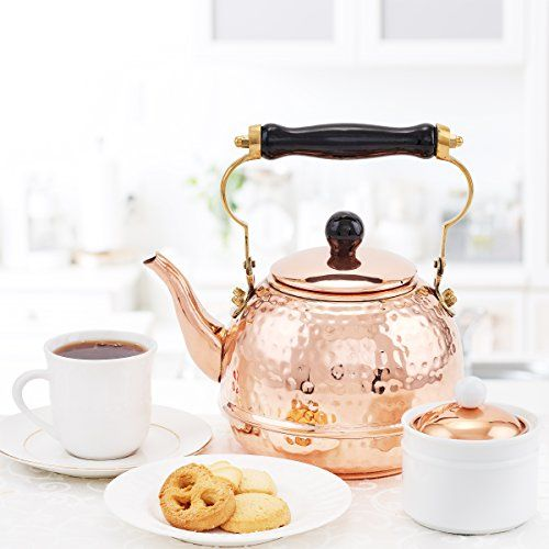 2 Quart capacity Solid copper for efficient heat transfer and faster boiling Classic look with wooden handle Suitable for both gas and electric stoves Easily cleaned by washing with warm soapy water and hand dry clean