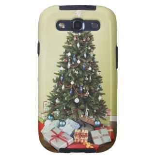 Christmas tree with gifts samsung galaxy s3 case