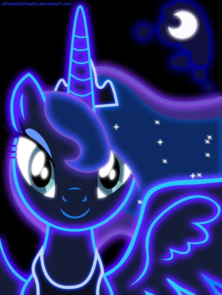 Neon Princess Luna by ~ZantyARZ on deviantART