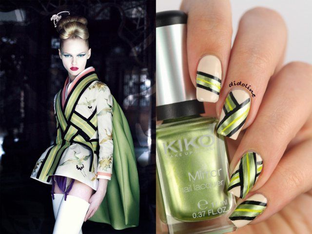 Dior inspired nails by Didoline's Nails