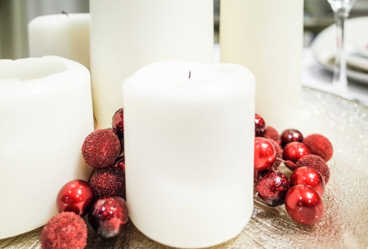 Christmas tray with candles. By Luna & The Table