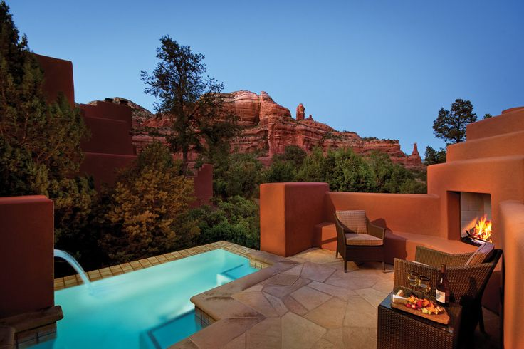 Enchantment Resort - Sedona, Ariz.  No matter where you are in Sedona's Enchantment Resort - whether lounging by the pool or enjoying tapas and a glass of wine at one of the restaurants - the views of Arizona's majestic red rock country are killer. The views from theTom Weiskopf-designed Seven Canyons golf course might be enough to distract you from your game.