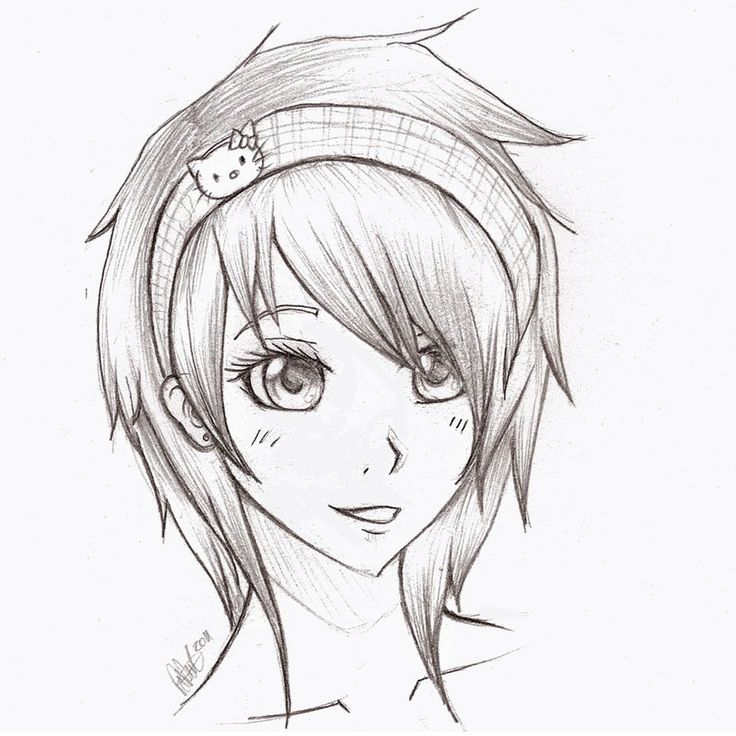 Anime Coloring Pages | anime girl sketch by mr-Awesomenessist
