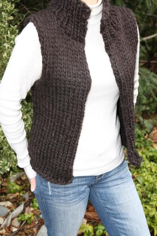 Looking for your next project? You're going to love Super Bulky Winter Vest by designer lisaellisdesign.