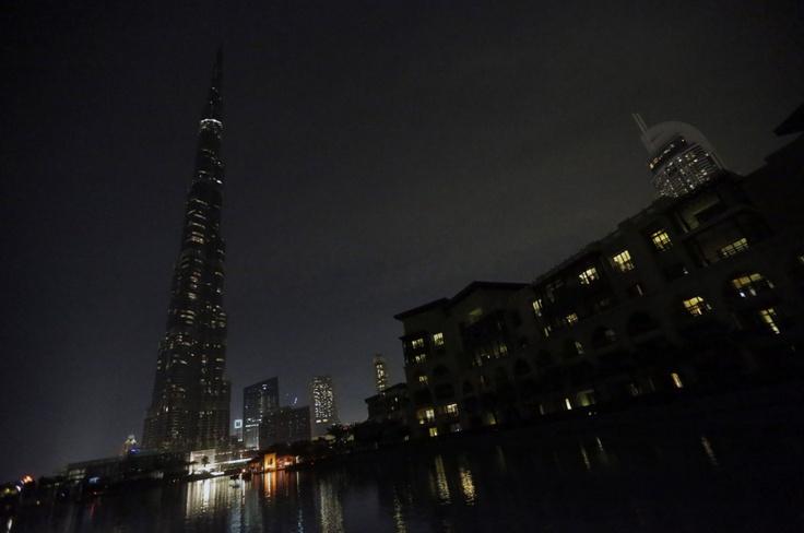 Earth hour 2013  Burg Khalifa