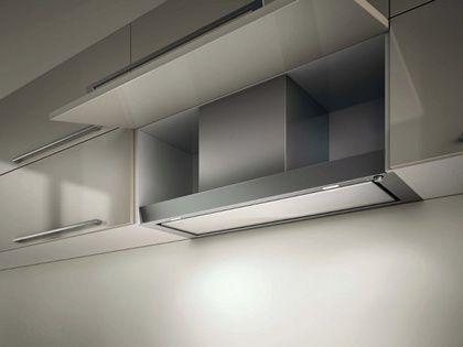 Filo, es una campana integrada en el mueble de cocina, lo que te permite total libertad de movimientos en la cocina, gran capacidad de absorción de humos y olores y un bajo nivel sonoro, como ya he dicho antes.