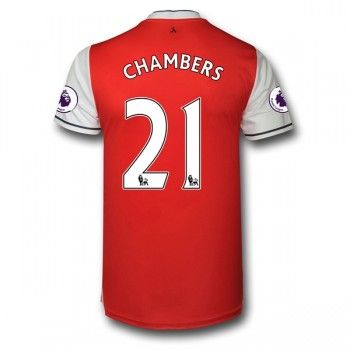 Arsenal 16-17 Calum Chambers 21 Hemmatröja Kortärmad   #Billiga  #fotbollströjor