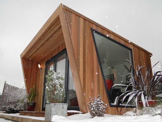 Pinnacle 4x3m Cedar clad with feature window, from £14,745 inc VAT