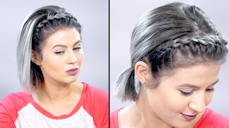 Lace Braid Headband on Short Hair | Milabu