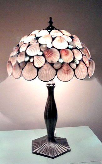 Tropical Lamp Pink Seashells Beach Home by Eastvillageartisans, $375.00