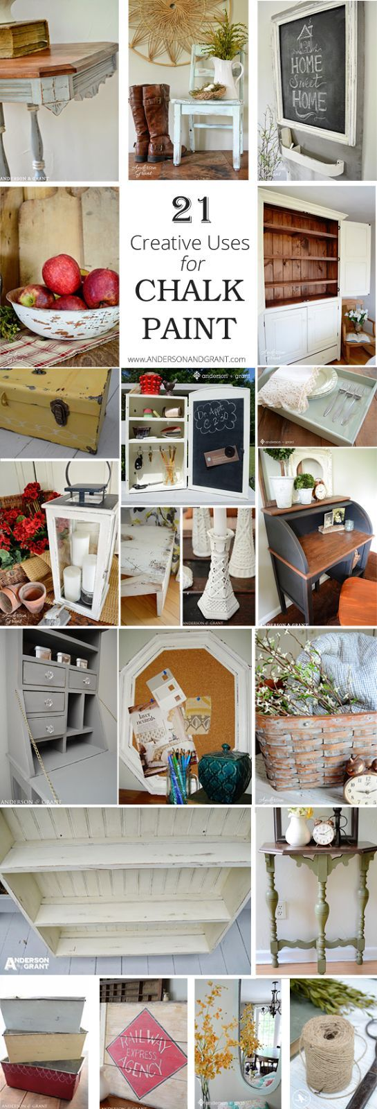 DIY #21 Creative Uses for Chalk Paint ! (with tutorials) andersonandgrant
