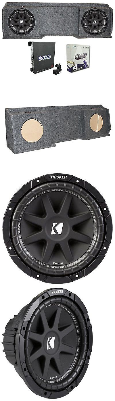 Speaker Sub Enclosures: Kicker 10C104 For Chevy Silverado Ext Cab 99-06 Dual Sub Package Box Amp Wire -> BUY IT NOW ONLY: $249.99 on eBay!