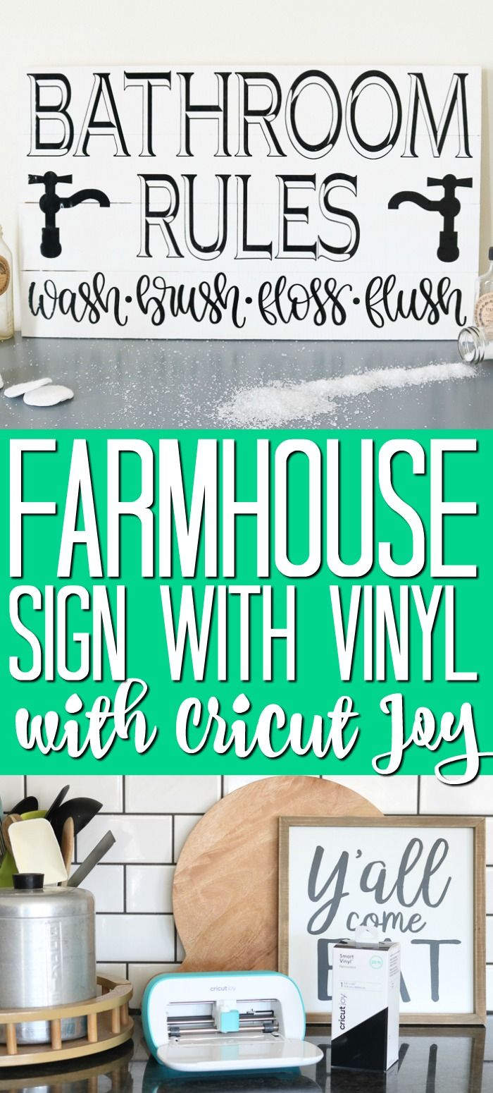 Your Cricut Joy Beginner S Guide In 2020 Cricut Vinyl Farmhouse Signs Cricut