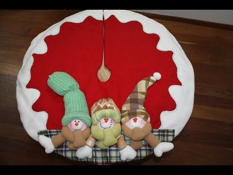 PIE DE ARBOL NAVIDEÑO// Foot Christmas Tree - YouTube
