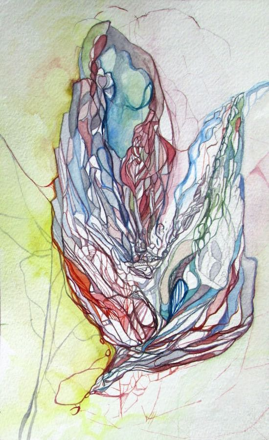 Jessia Esther Hoflick 'Candy Coated Dream' Watercolour and pencil on paper #drawing