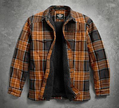 Men's Sherpa Fleece Lined Shirt Jacket