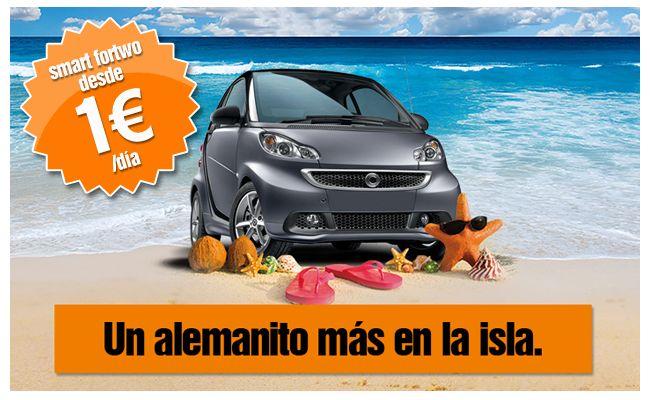 Location de Smart à 1€ par jour sur l'ile de Majorque en Espagne